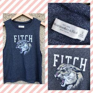 Abercrombie & Fitch Raw Edge Tank top Big Cat Lion